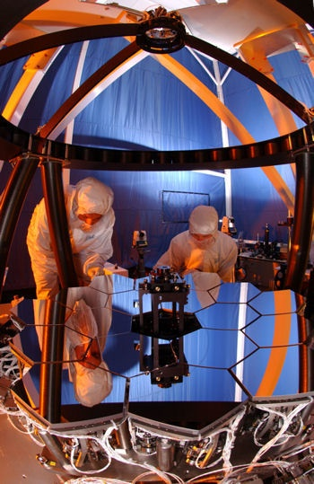 James Webb Space Telescope uses cryogenic mirrors and a wavefront sensing and control system to peer back into space to just after the Big Bang