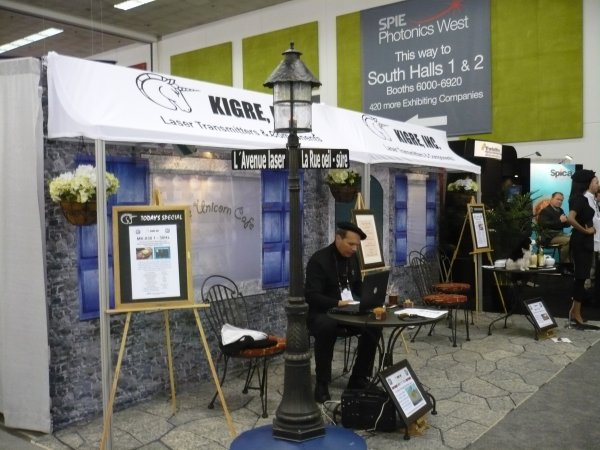 Kigre's booth at Photonics West 2009