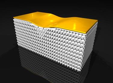 3-D invisibility cloak hides gold