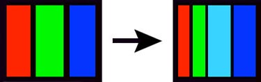 Light blue sub-pixel