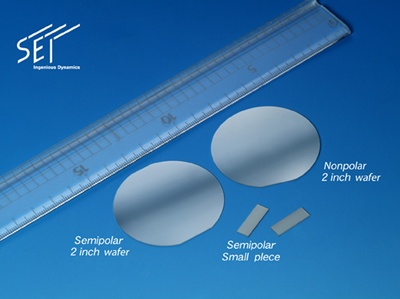 Non-polar wafer materials
