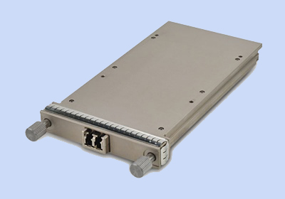 Finisar's 100 GE (Gigabit Ethernet) CFP2 module, based on the CFP2 MSA form factor.