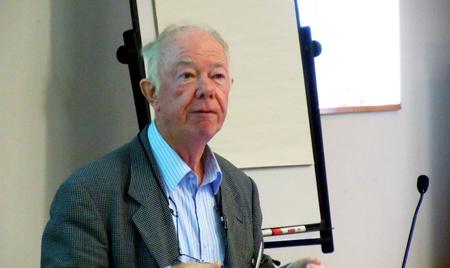 Illuminating: Prof. Alf Adams of Surrey University.