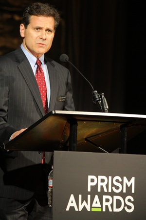 Mike Cumbo at this year's Prism Awards
