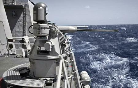 Boeing & BAE Systems MK38 TLS naval gun.