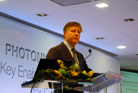 Martin Goetzeler, the outgoing President of Photonics21.