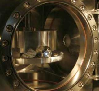 The ChemCam laser being tested