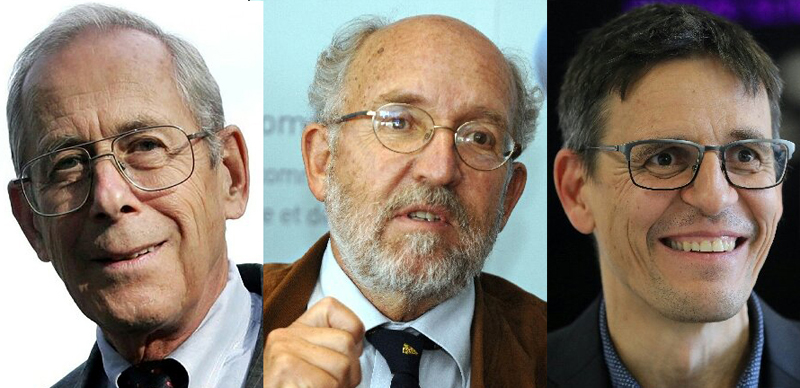 Universal approval: Physics Nobel Prize winners: Peebles, Mayor and Queloz.