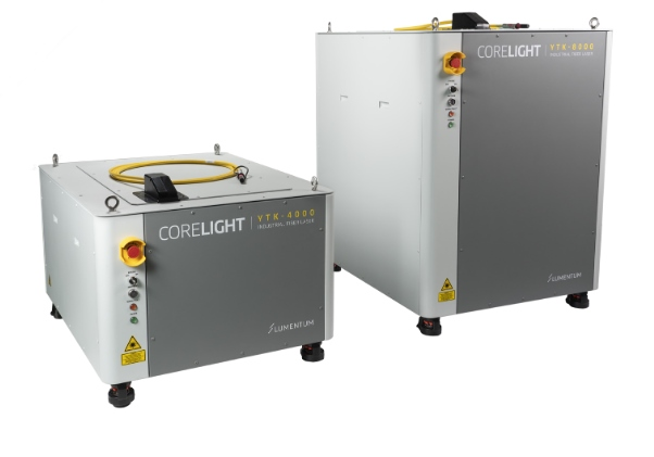Lumentum's Corelight range of fiber lasers offer output powers of up to 8 kW.