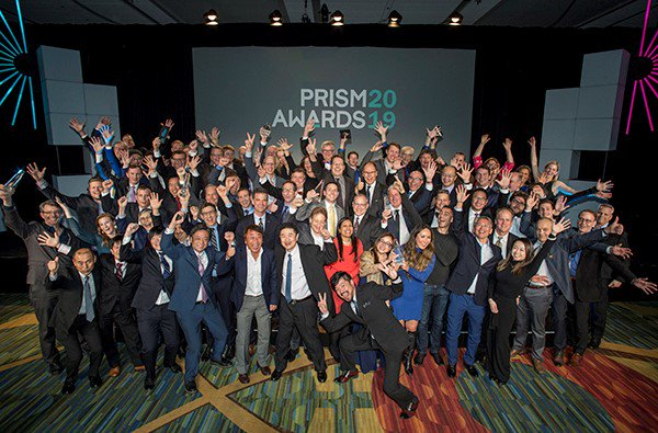 Winners of the 2019 Prism Awards at Photonics West in San Francisco.