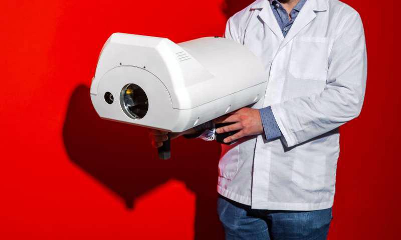 Portable: hand-held scanner for diverse hazardous substances.