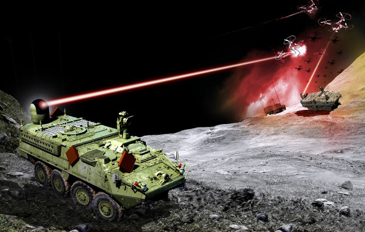 A directed energy prototype solution will be fitted on a Stryker combat vehicle.