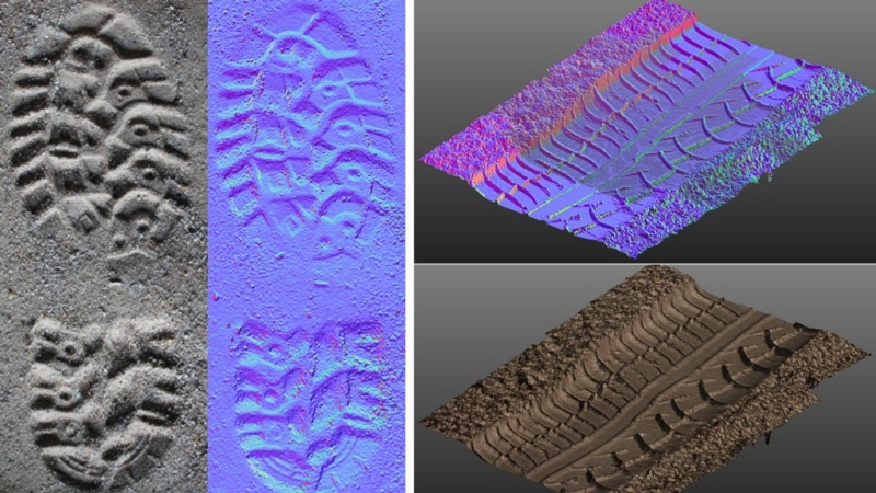 He went this way: 3D scanning of tell-tale impressions.