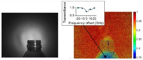 Hyperspectral images of ammonia escaping from a bottle. Click for more info.