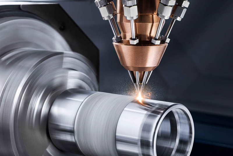 Laser metal deposition process speeds double with new nozzle.