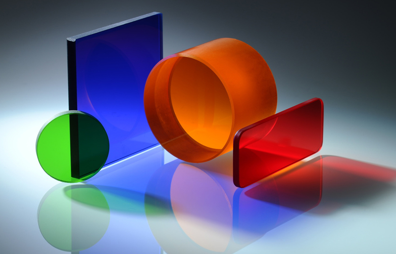 Schott glasses: polished optical filters.