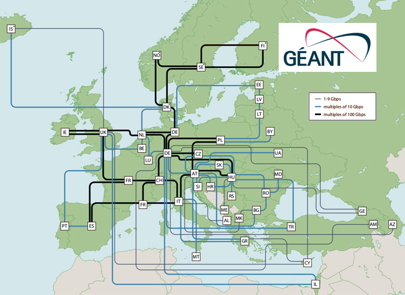 GÉANT is a European collaboration on network and services for research and education.