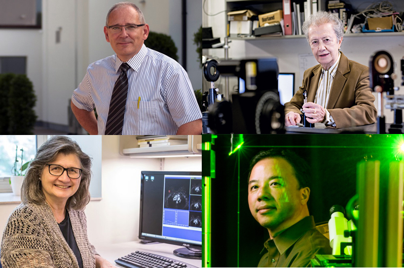 SPIE Award winners: Thienpont, Yzuel, Giger and Zhang. Click for info.