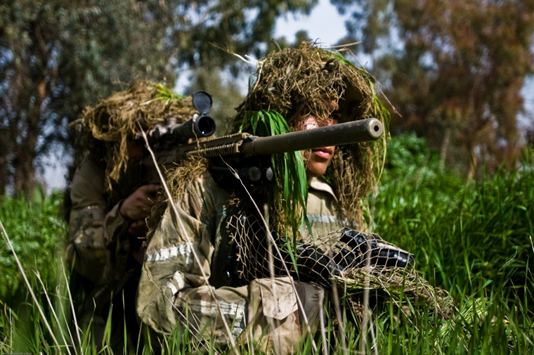US Army - sniper with optical sight