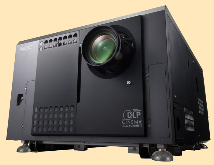 Moving: the NC1100C 9300 lm laser-based Digital Cinema Projector.