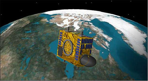 In orbit: e2v's imaging sensors were also carried on NEOSSat.