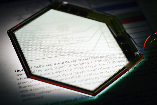 Development of OLED-based microdisplays will benefit.