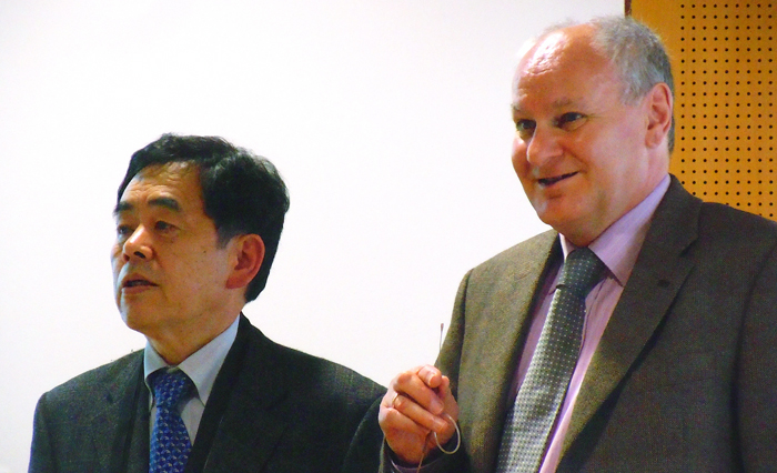Kunihiko Washio, Paradigm Laser Research, with Arnold Mayer, Optech Consulting.