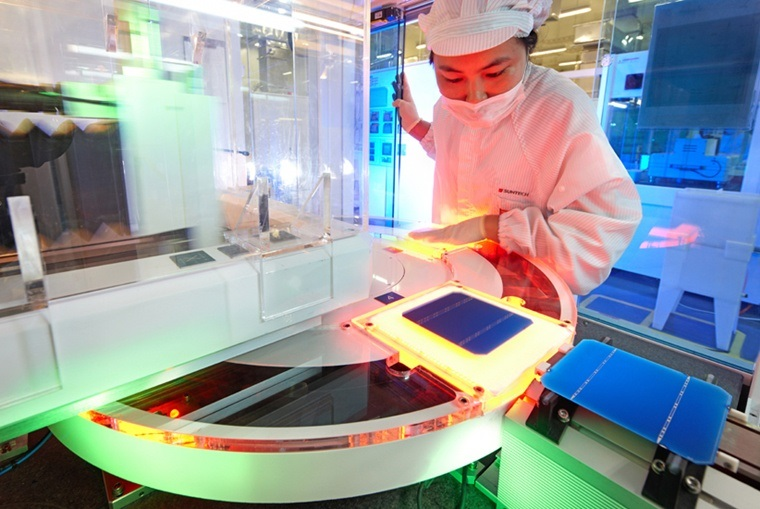 Wafer production at Suntech Power