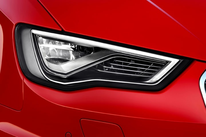 Audi's new S3 model with LED headlamps