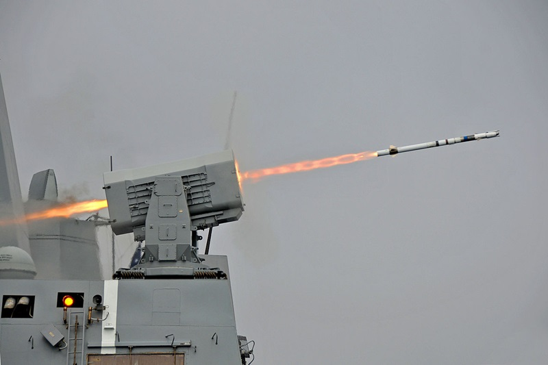 US Navy RIM-116 missile launch