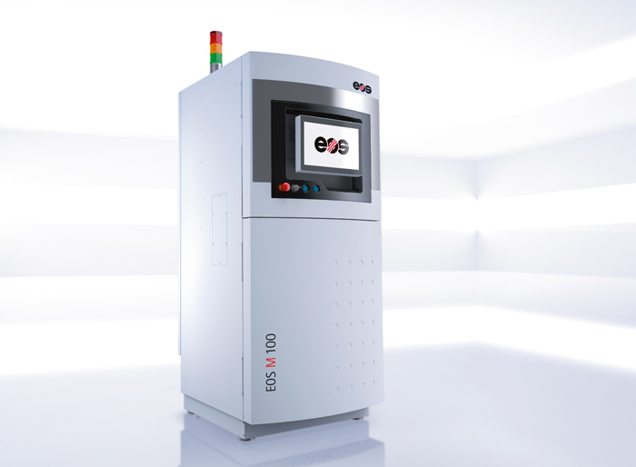 New from EOS: the M100 system for Direct Metal Laser Sintering.