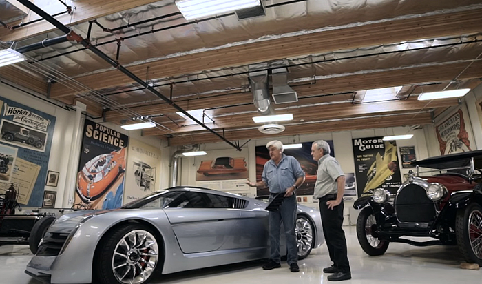 Leno has a large collection of classic cars - but parts are hard to come by.
