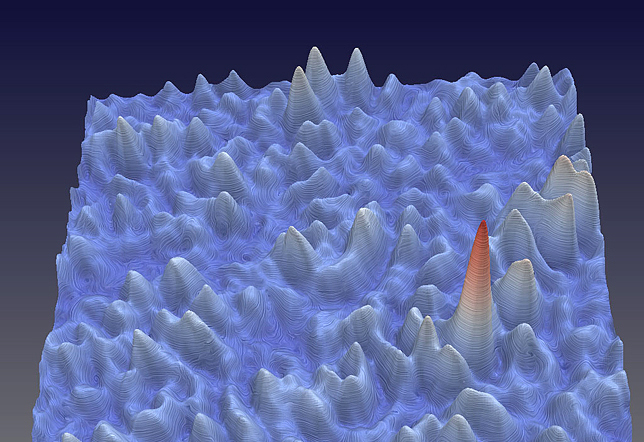 Experimental image of a nanoscaled and ultrafast optical rogue wave.