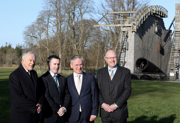 Stars in their eyes: Ireland's technology R&D investment team at Birr Castle telescope.