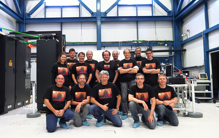 Superstars: The Gravity instrument team during the first observations at Paranal.