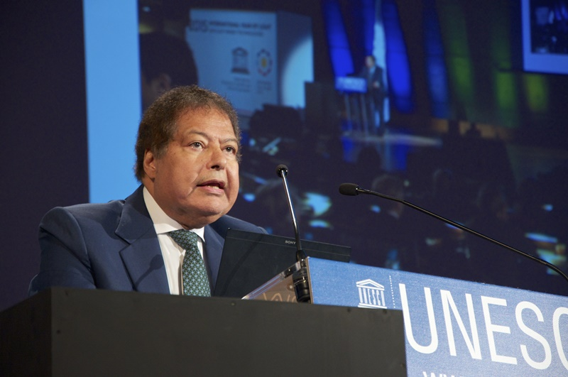 Ahmed Zewail at the International Year of Light launch