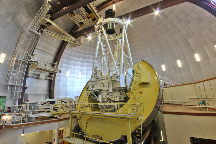 The 3.9 metre Anglo-Australian Telescope located at Siding Spring Observatory in NSW.