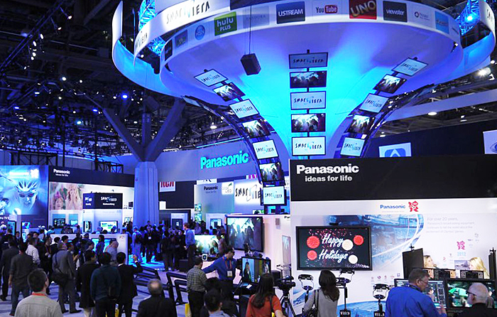 Significant player: Panasonic's big booth at last week's CES show in Las Vegas.