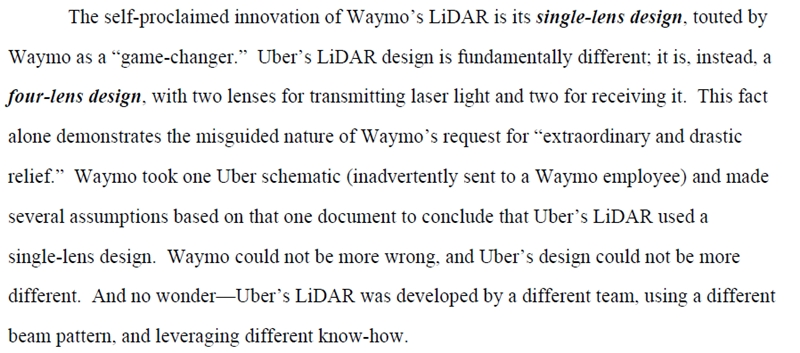 Excerpt from the Uber response (click to enlarge)