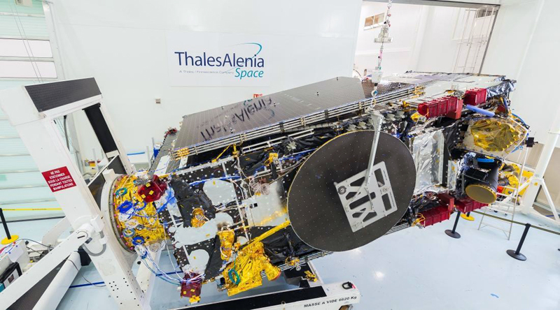 3D-printed parts: Brazil's SGDC telecommunications satellite.