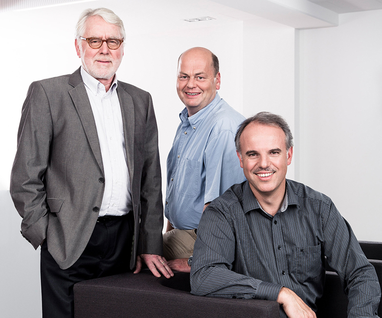 Founder Wilhelm Stemmer with new directors Christof Zollitsch and Martin Kersting.