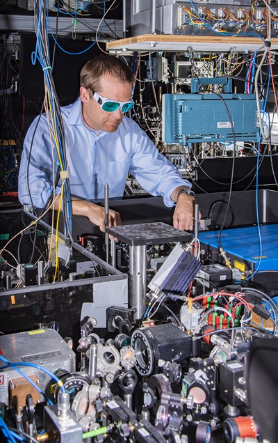 NIST's Andrew Ludlow at the Boulder lab