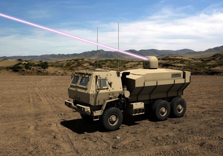 The High Energy Laser Tactical Vehicle Demonstrator (HEL TVD).