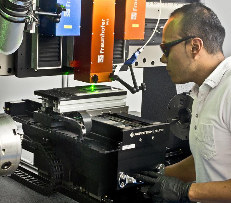 Lotus position: Alfredo Aguilar, materials scientist at Fraunhofer IWS.