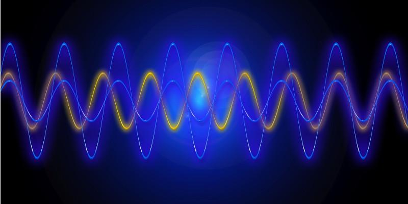 Wavelength changes as laser moves from one steady state to a new steady state.