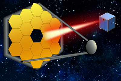 To maintain future mega-telescope stability laser-cubesats act as
