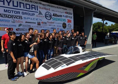 This year's model: the Alta Devices PV-powered Stanford Solar Car.