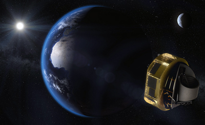 CASE packed: ESA's ARIEL spacecraft en route to Lagrange Point.