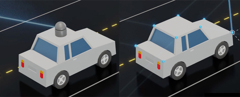 Potential LIDAR replacement system: In driverless cars, for example, the NIST switch could rapidly redirect a single light beam to scan all parts of the roadway.