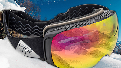 Ride-On's ski goggles and brings AR to the slopes.